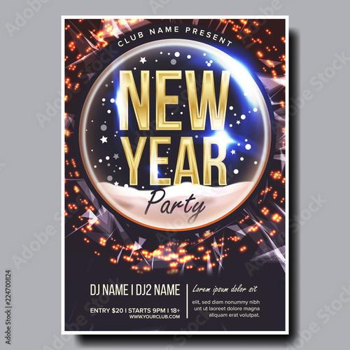 Fotografía  2019 Party Flyer Poster Vector