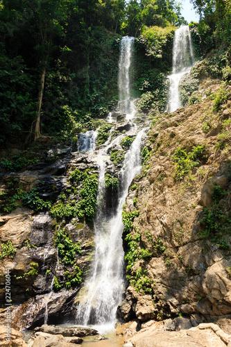 Mountain waterfall Mindoro island. Philippines.