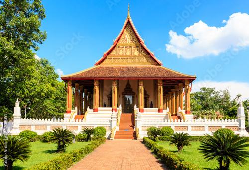 Tuinposter Bedehuis Buddhist temple of Ho Phra Keo. Laos. Vientiane.