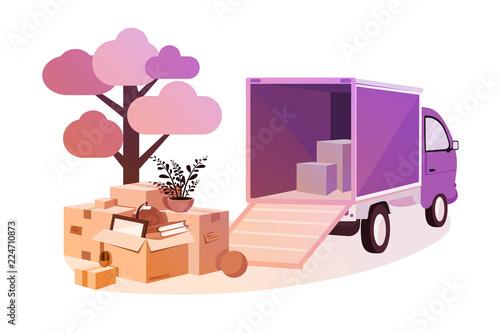 Obraz Transportation of things during move. - fototapety do salonu