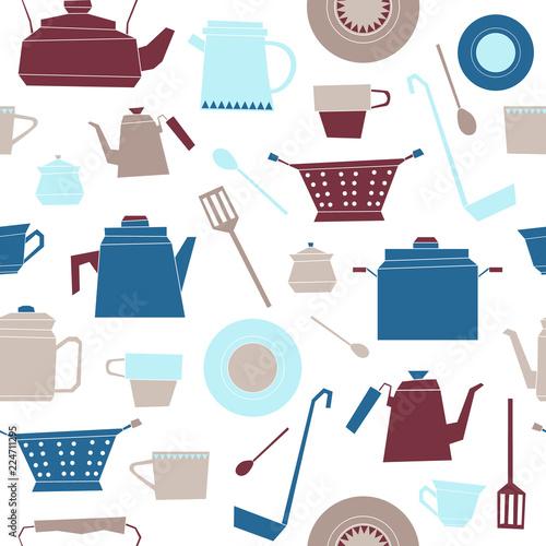 recznie-rysowane-naczynia-kuchenne-retro-wzor
