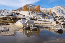 Mountain Goats Near A Lake In ...