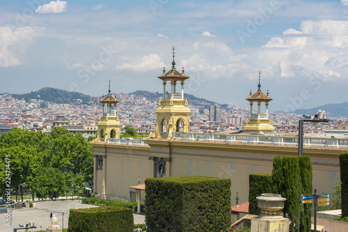 Barcelona cityscape from Montjuic hill, Spain