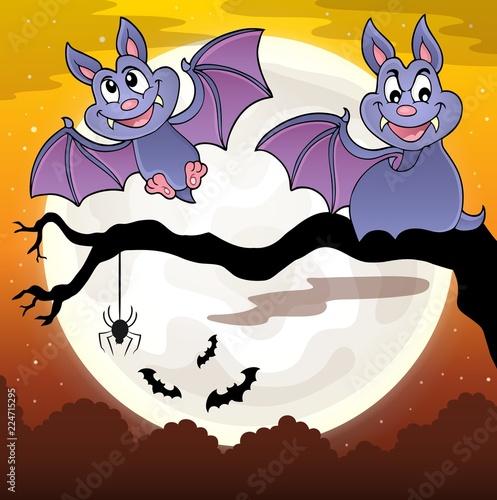 Fotobehang Voor kinderen Bats theme image 8