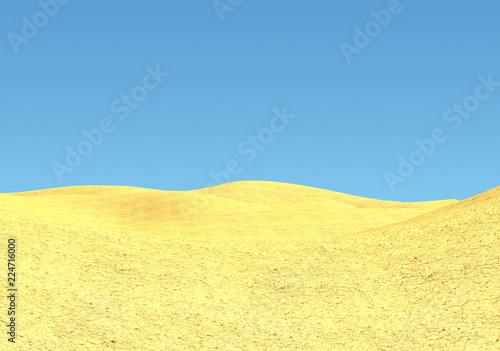 Foto auf AluDibond Gelb Schwefelsäure Gelb blaue Wüstenlandschaft