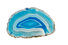 Macro Mineral Stone Blue Agate Breed A White Background