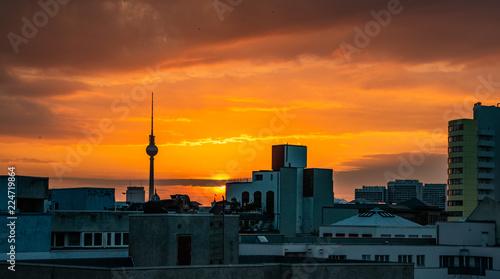 Fotografie, Obraz  sunrise in Berlin