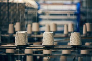 Dyeing fabrics yarn in dyeing farm production