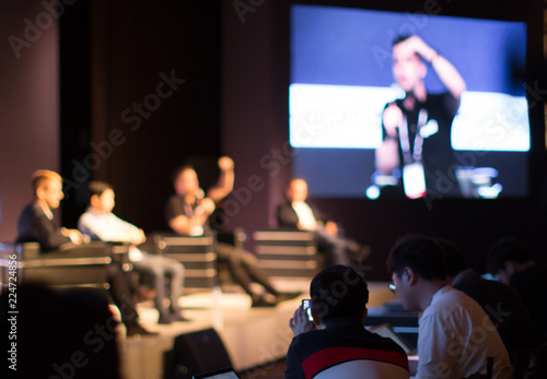 Photo Panel on Stage during Discussion Event