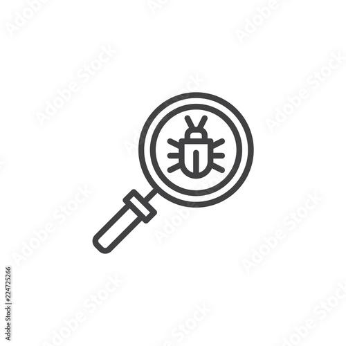 Virus scan outline icon Fototapet