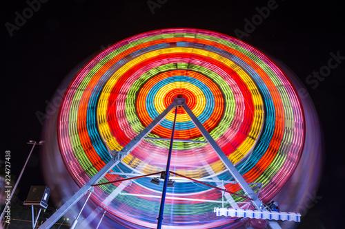 Photographie  Fun-fair at long exposure