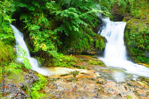 Poster Watervallen Wasserfall Dolomiten
