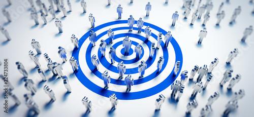 Zielgruppe - Target - Erfolg Fototapet