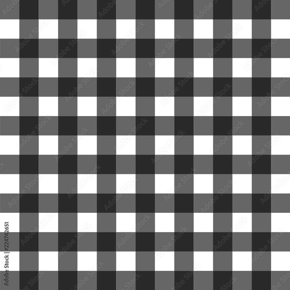 Fototapeta black and white gingham pattern