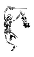 Dancing Skeleton With Fiddle