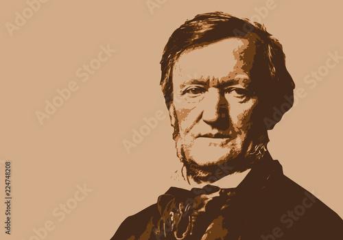 Wagner, musicien, portrait, personnage, piano, pianiste, musique, célèbre, class Wallpaper Mural
