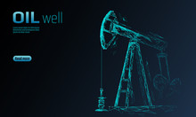 Oil Well Rig Juck Low Poly Bus...