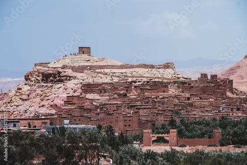 Ancient buildings on hill