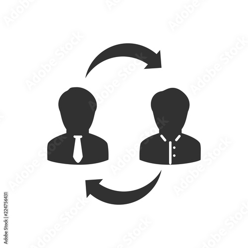 Replacement of an employee - Buy this stock vector and