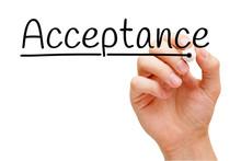 Acceptance Handwritten With Bl...
