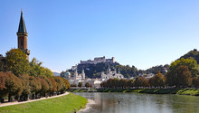 A View Of Historic Salzburg, Austria, Home Of Mozart The Composer, And The Set Of The Movie The Sound Of Music.
