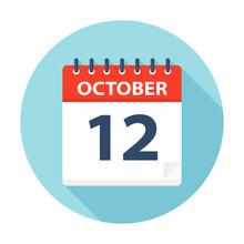 October 12 - Calendar Icon