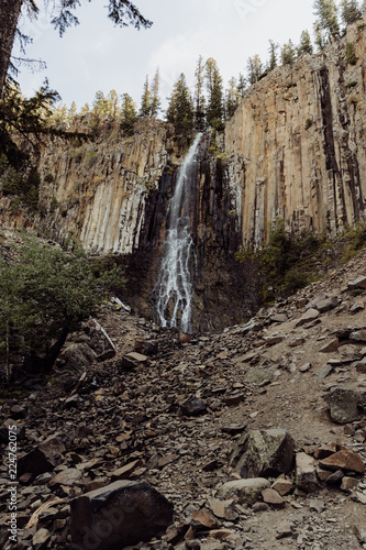 Fotografie, Obraz  Beautiful Scenery of Palisade Falls in Hyalite Canyon, Montana