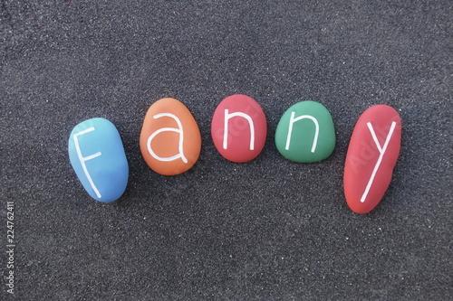 Fotografía  Fanny, feminine given name composed with multi colored stones