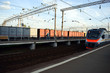 Arrival of an electric train to the apron. Journey through Russia.