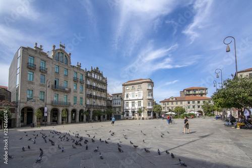 Plaza de la Ferreria en el centro historico de la ciudad de Pontevedra