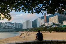 Travel Backpacking At Hong Kong Beach, Victoria Beach, China