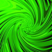 Abstract Spiral Pattern With Waves. Green Whirlpool And Emerald Stripes