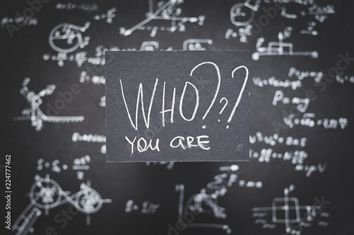 who you are. personality development and self determination.