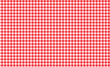 Red And White Gingham Seamless...
