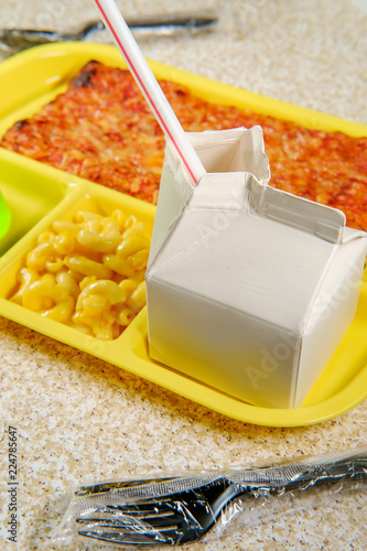 School Lunch Tray Pizza
