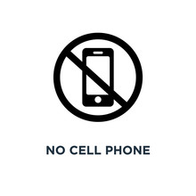 No Cell Phone Icon. Simple Element Illustration. No Cell Phone C