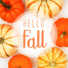 Hello Fall Greeting Card With ...
