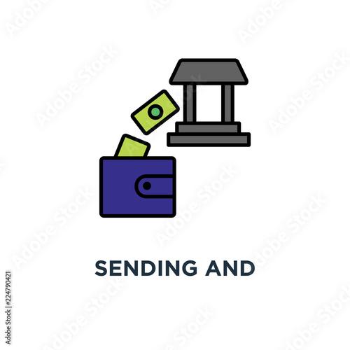 Fotografía  sending and receiving money icon