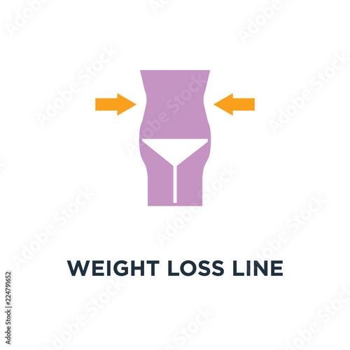 Fotografia  weight loss line icon