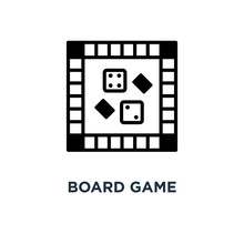 Board Game Icon. Board Game Concept Symbol Design, Vector Illust