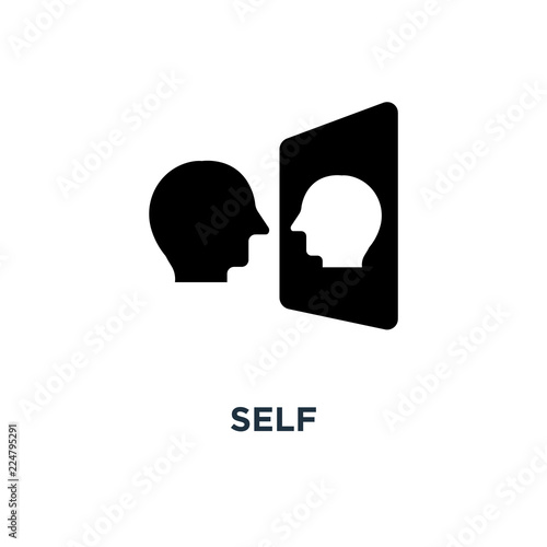Valokuvatapetti self icon. awareness concept symbol design, vector illustration