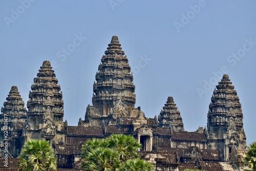 Tuinposter Bedehuis Angkor Wat temple, Siem Reap, Cambodia
