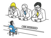 Nervous Applicant In Job Interview