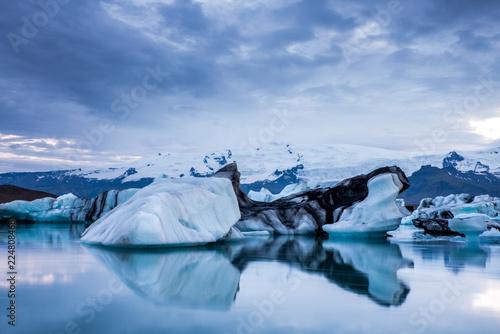 Ingelijste posters Antarctica Landscape photography ice glacier in Iceland