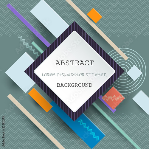 Illustration Vector Of Cool Abstract Geometric Background