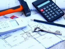 Plan De Maison,clé,outils,symbole De Construction