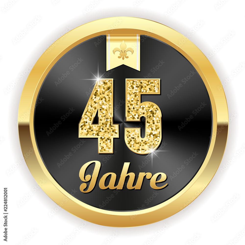 10 Jahre - Hochzeit, Gründung, Jubiläum Button in gold: comprar ...