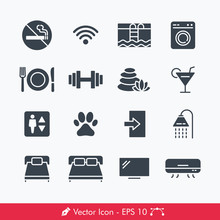 Hotel Related Signs Icons / Ve...