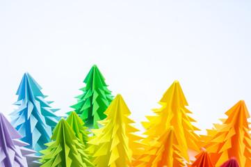 Multicolored paper Christma...