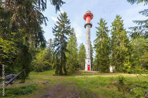 Valokuva  Lighthouse at Cape Yuminda in Estonia height 24 m and diameter 2 m was built in